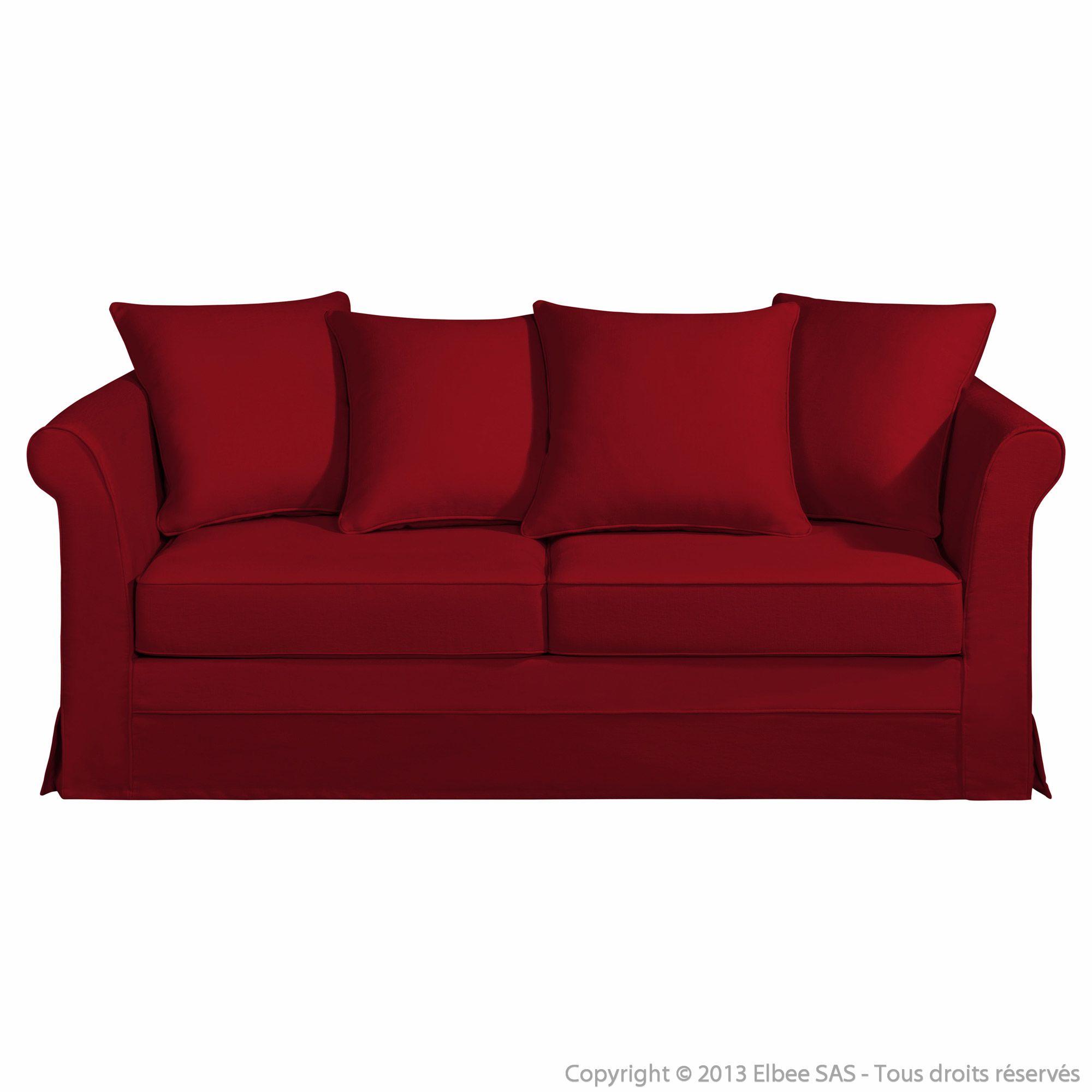 canap tissu coton convertible som 39 toile d houssable dossier coussins kaelia esprit chalet. Black Bedroom Furniture Sets. Home Design Ideas