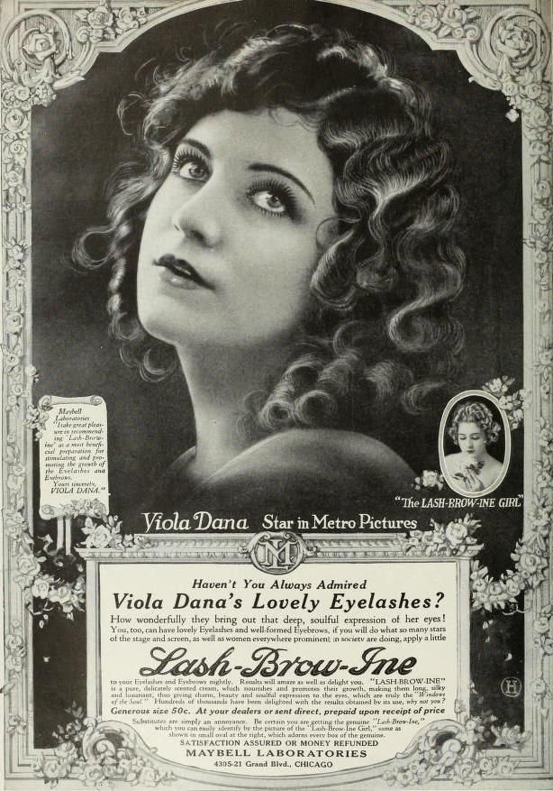 All Sizes Viola Dana For Lash Brow May 1920 Flickr Photo - 1920s-makeup-ads