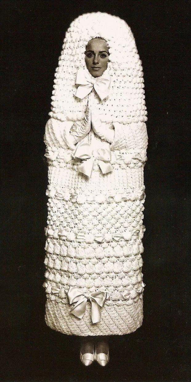 60 S Ysl Crochet Wedding Dress Hideous Who Would Ever Wear Such