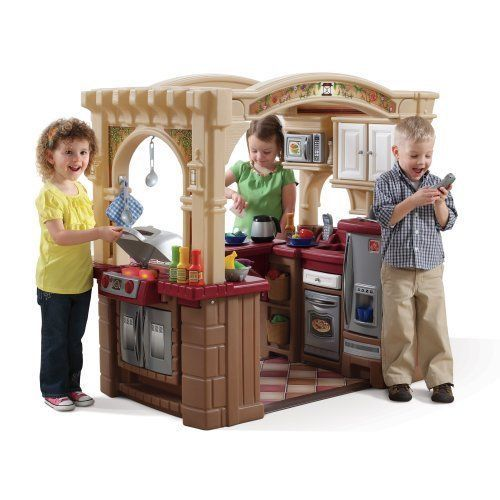 Grand Walk-in Kitchen and Grill, Brown/Tan/Maroon Step2 Free Shipping #Step2