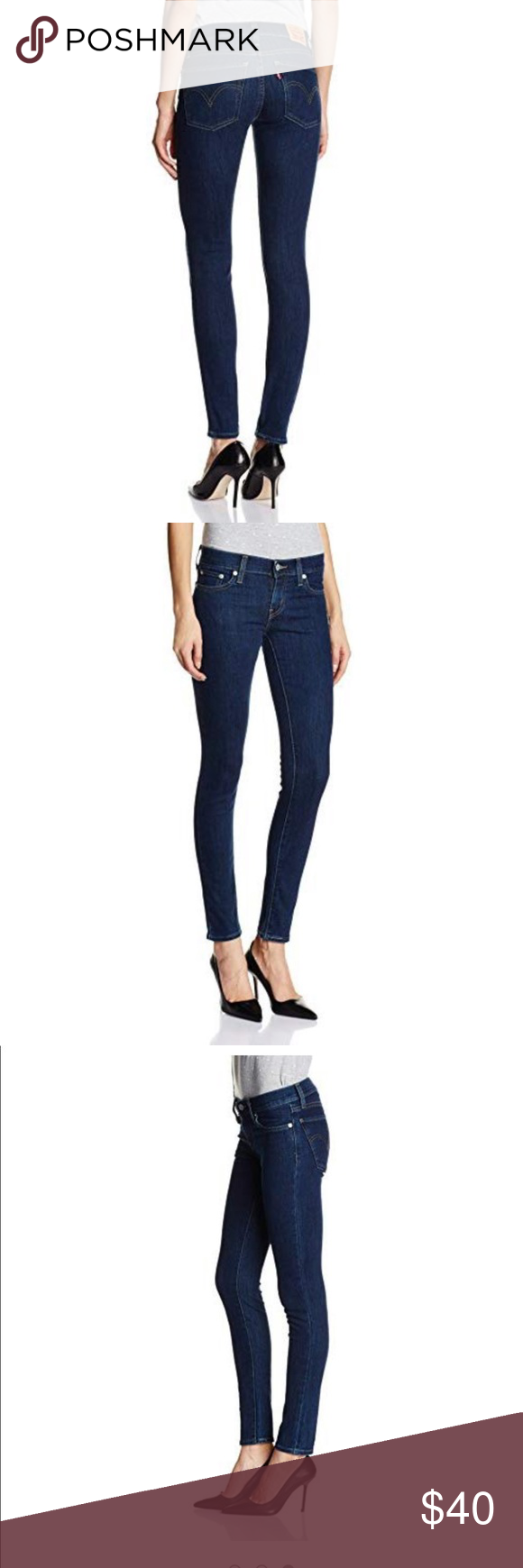 Levis 601 Pin Skinny Fit Jeans Levis Size : 27 68% Cotton