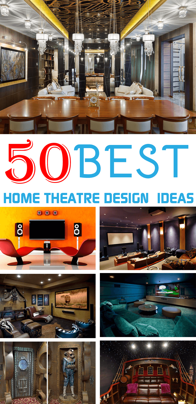 50 Creative Home Theater Design Ideas