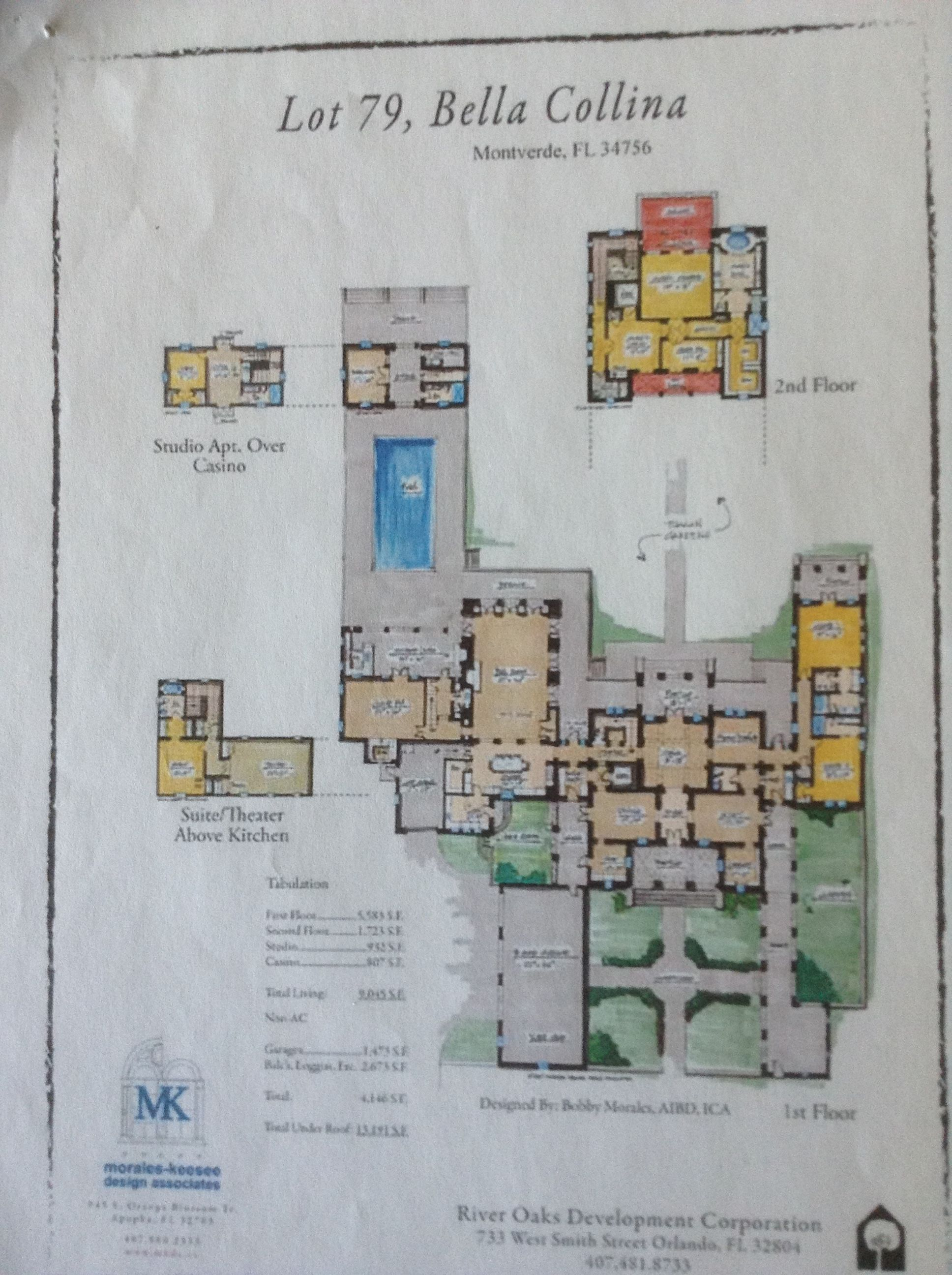 House Floor Plans Villa Cortona Lot