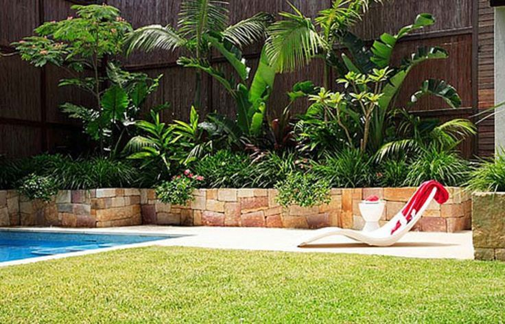 Pool Tropical Landscaping Ideas planting a retaining wall tropical garden - google search
