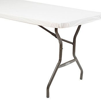 stay put rectangular table cover white 30 x 96 1 ct products rh pinterest es