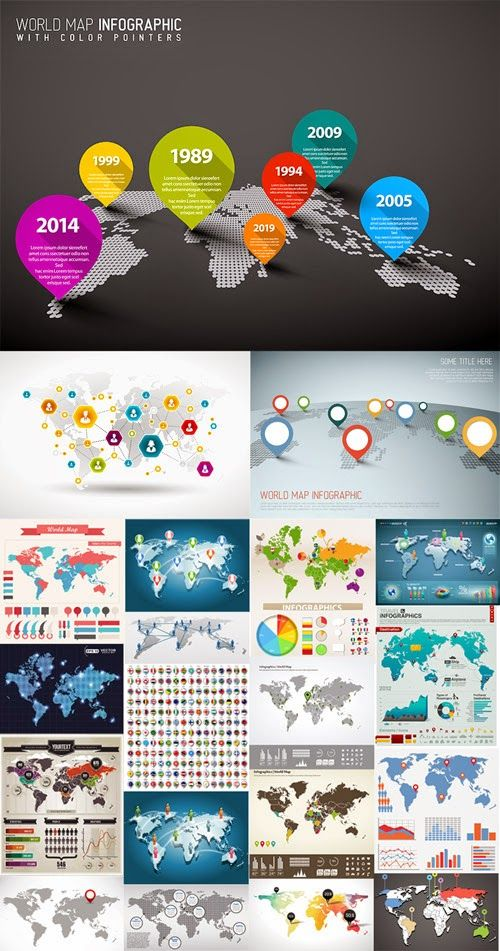 World map pointers your pinterest likes pinterest world map pointers gumiabroncs Images