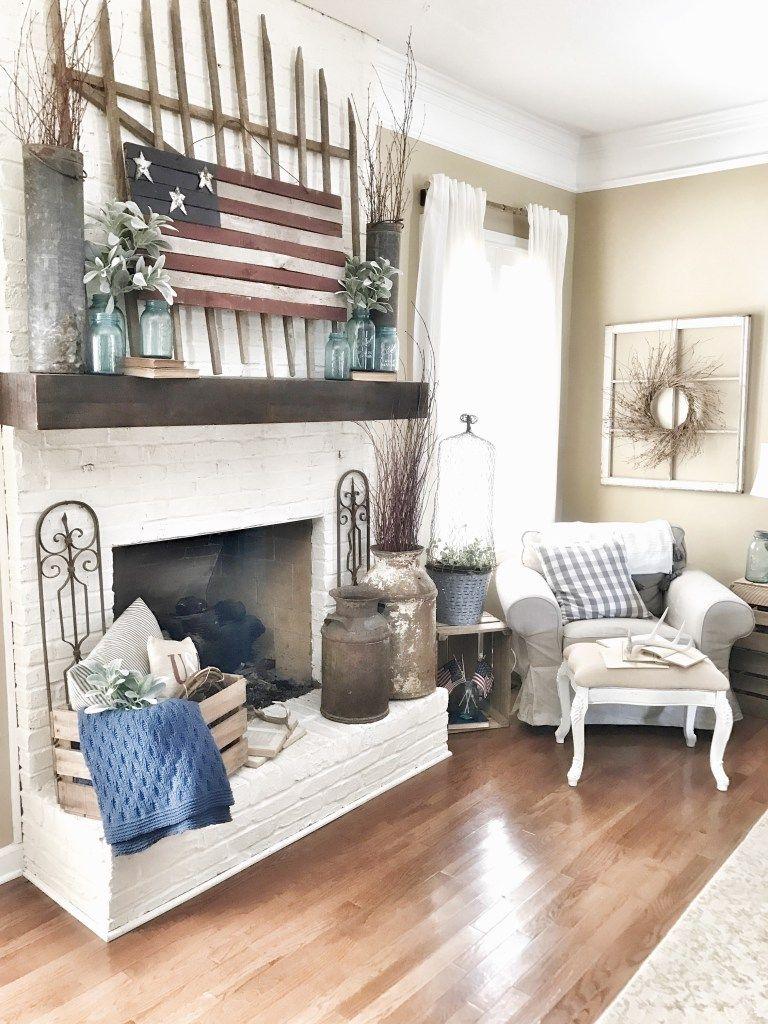 Th Of July Living Room Decor Ideas Modern farmhouse Pinterest