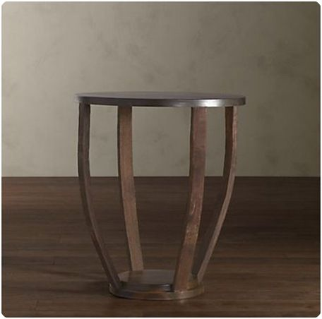 wine barrel side table restoration hardware wine barrels rh pinterest com