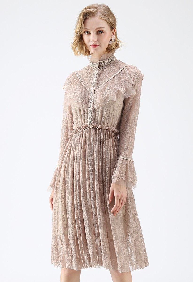 0b848c40cc1ab What About Us Ruffle Lace Dress in Ta | clothes: romantic feel of an ...