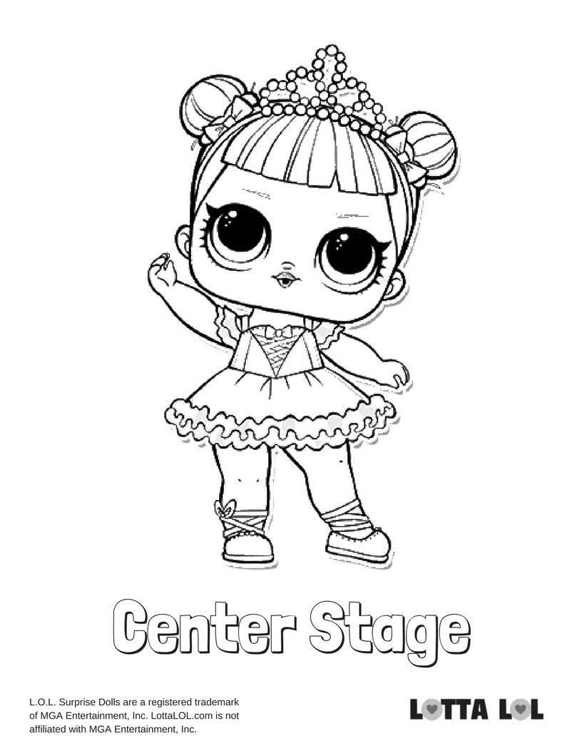 Center Stage Coloring Page Lotta