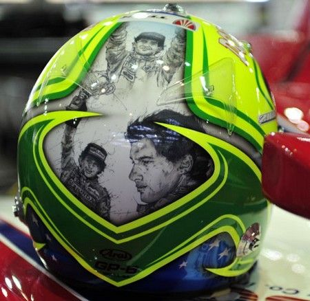 Felipe Massa helmet tribute to Ayrton Senna
