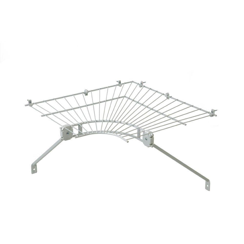 closetmaid ventilated wire corner shelf for 16 in shelf and rod rh pinterest com