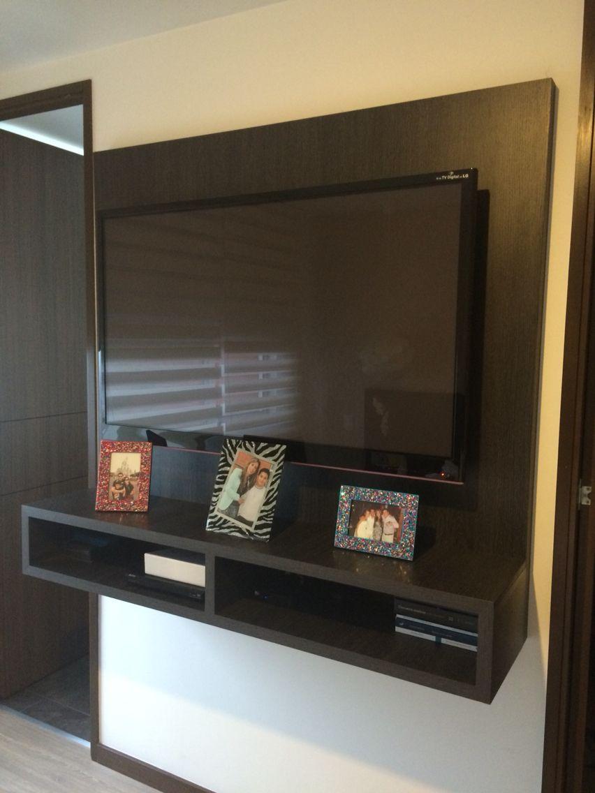 Mueble tv centro de entretenimiento mide sc home for Mueble tv dormitorio