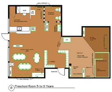 Daycare floor plan gurus floor for Design a preschool classroom floor plan online