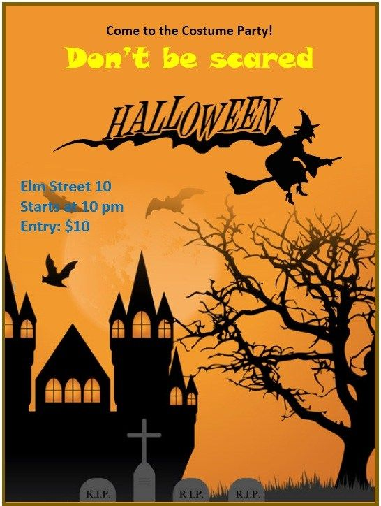 Halloween Flyer Template Stationary Templates Pinterest Flyer
