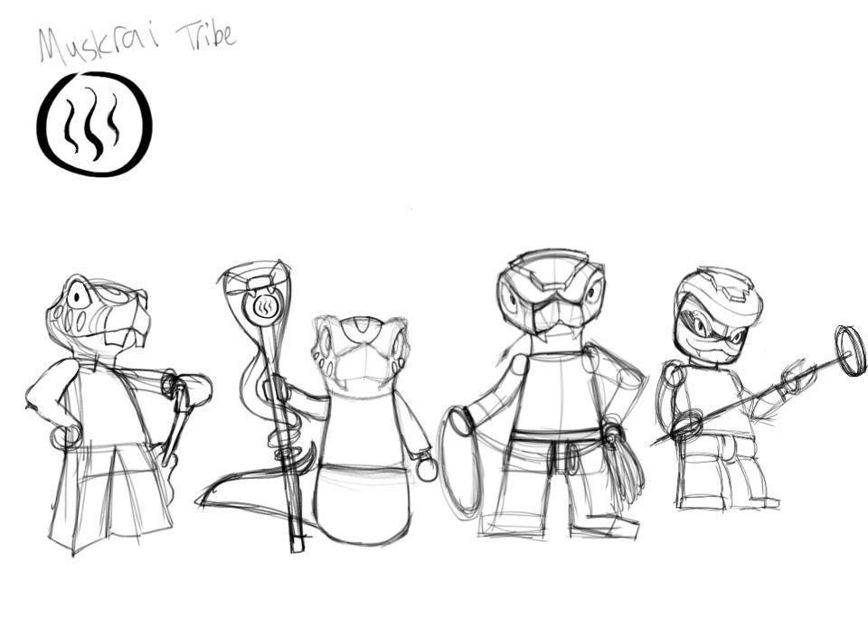 ninjago oc muskrai tribe by silentcartoonist on