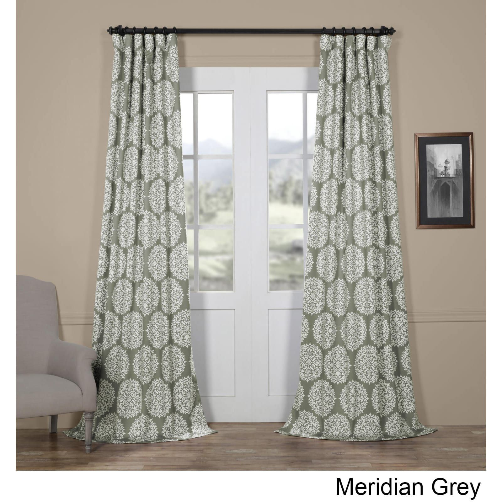 Exclusive Fabrics Meridian Blackout Curtain Panel Pair 50 X