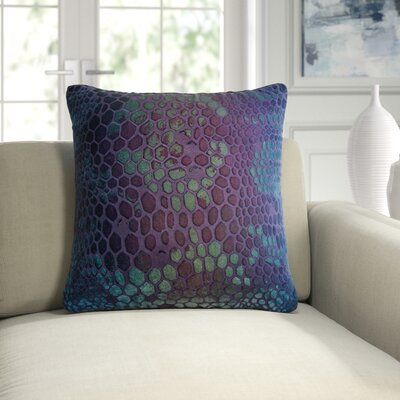 Snakeskin Velvet Animal Print Throw Pillow
