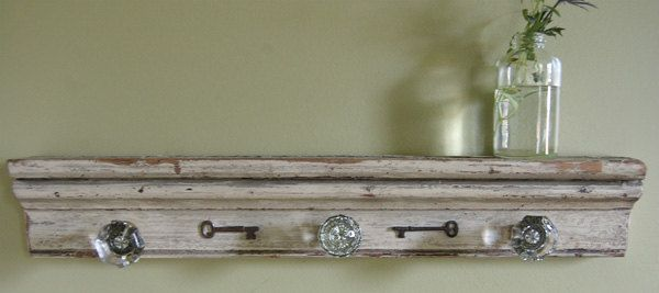 Made A Coat Rack Like This Today With Antique Wood And Glass Door Knobs :)