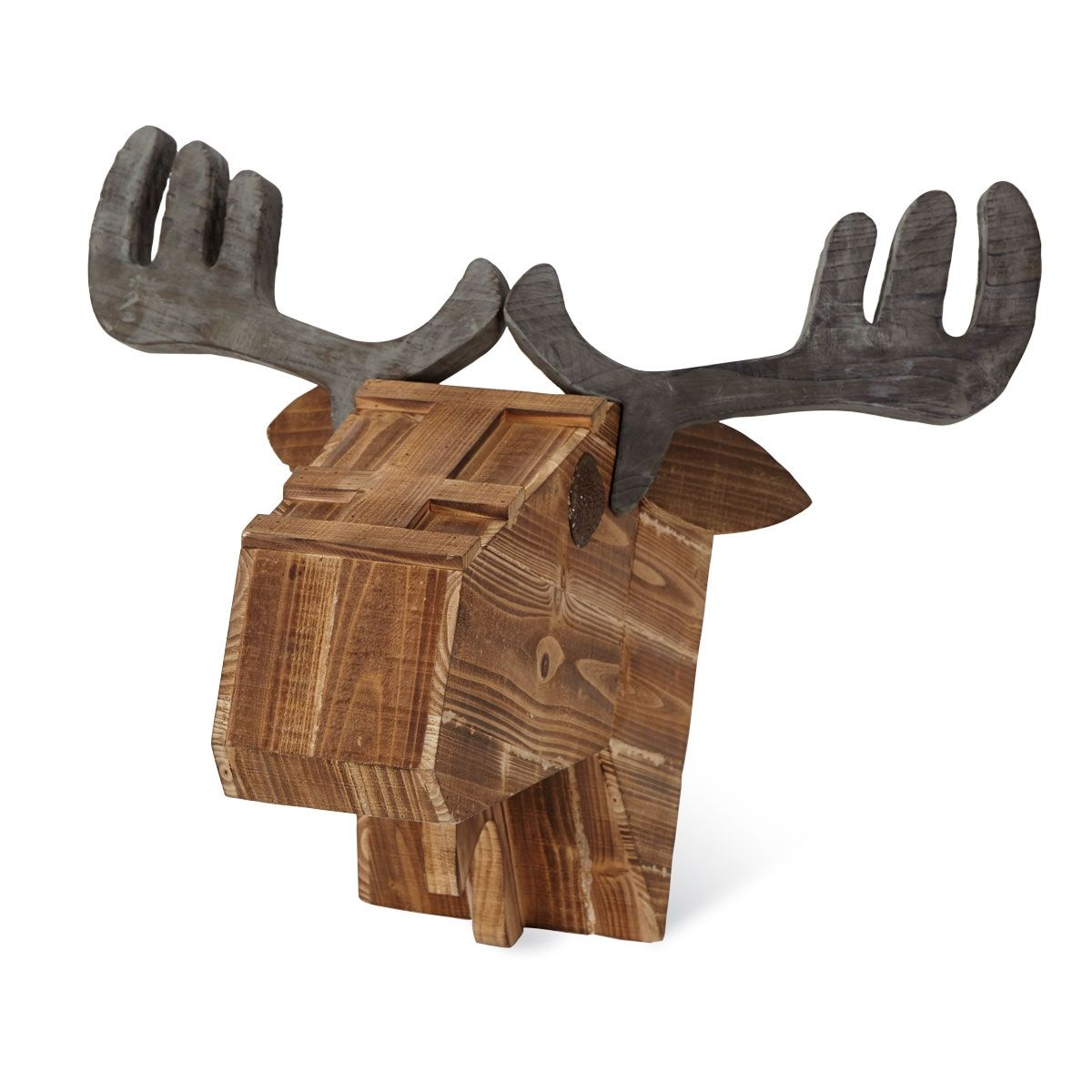 Foreside Home & Garden - Moose Head Wall Decor, Large | Rustic ...