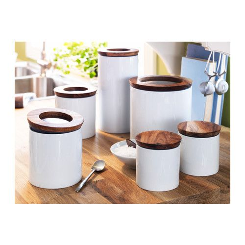 Ikea White Kitchen Canisters