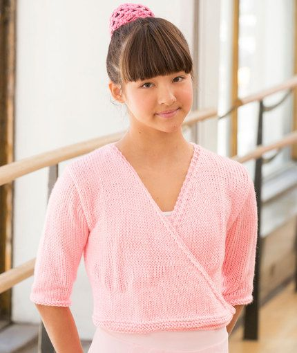 aad7a89c0 Free Knitting Pattern for a Child's Ballerina Wrap Sweater ...