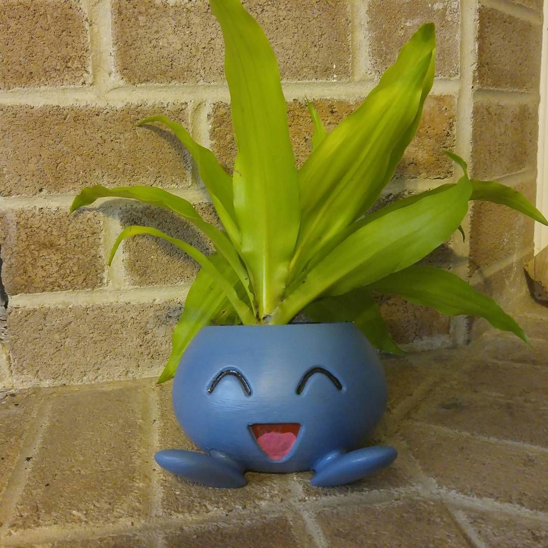 super cute 3d printed oddish planter for the home pinterest wohnungsdeko selbst gemacht. Black Bedroom Furniture Sets. Home Design Ideas