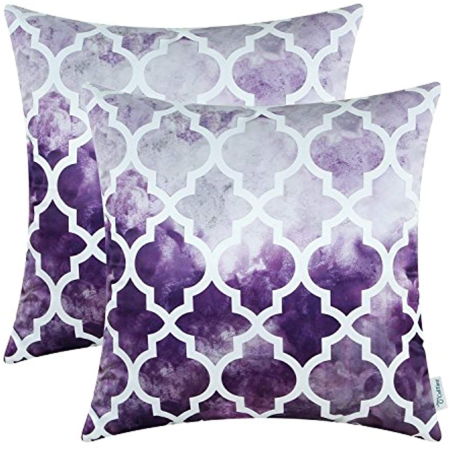 calitime pack of 2 silky throw pillow covers cases for couch sofa rh pinterest com