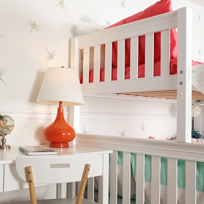 Medium Twin over Full Bunk Bed with Stairs + Slide   Çocuk ...