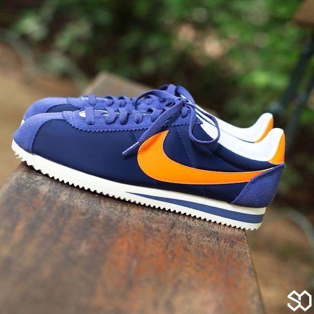 new style db0ef 56d8d Nike Cortez Blue Orange