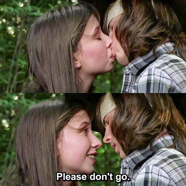 Dead And Carl Enid Walking Kiss