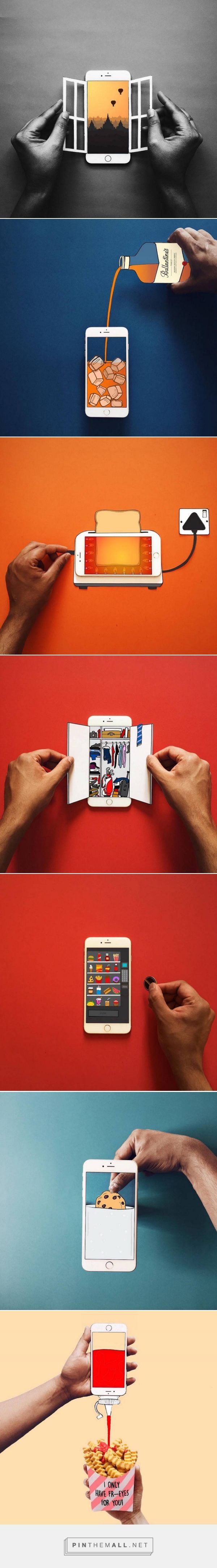 Creative Compositions Using An Iphone And Paper Creative Posters Book Design Poster Design