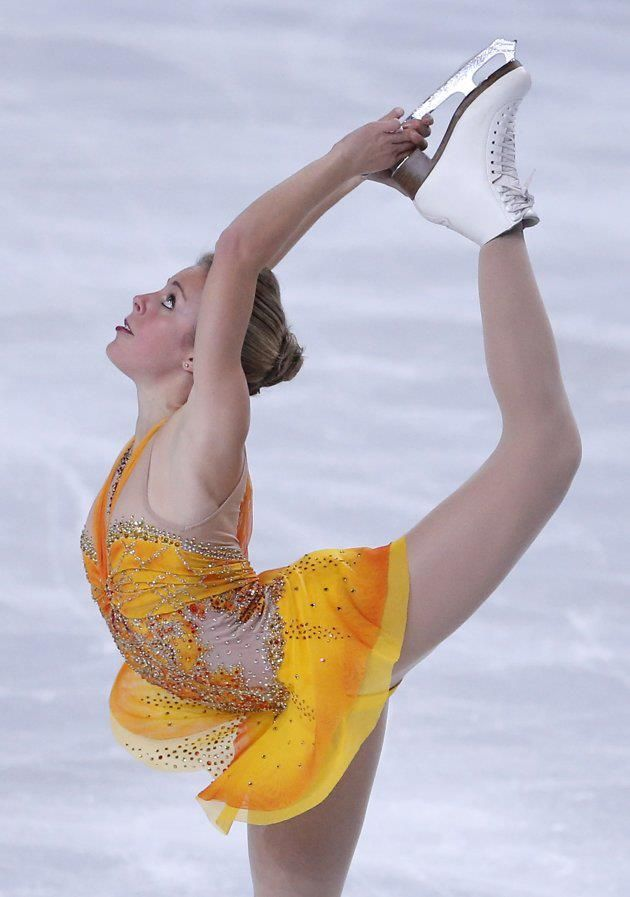 Ashley Wagner of the U.S. performs in the Ladies Free Skating of the ISU Figure Skating Eric Bompard Trophy at Bercy arena in Paris, Saturday, Nov. 17, 2012~~~~