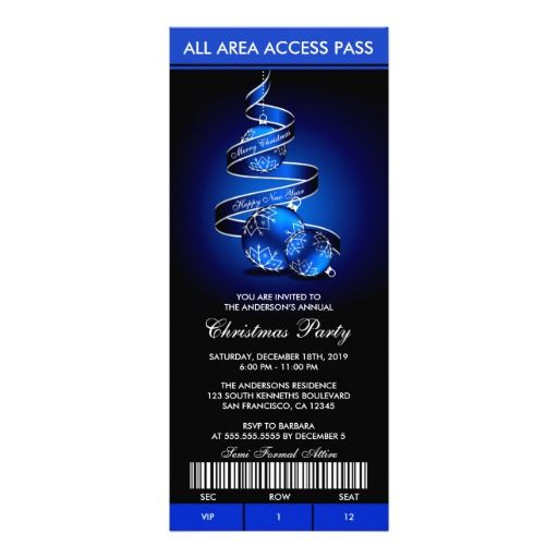 These Ticket Style Holiday Party Invitation Templates Can Be   Business  Invitations Templates  Business Invitations Templates