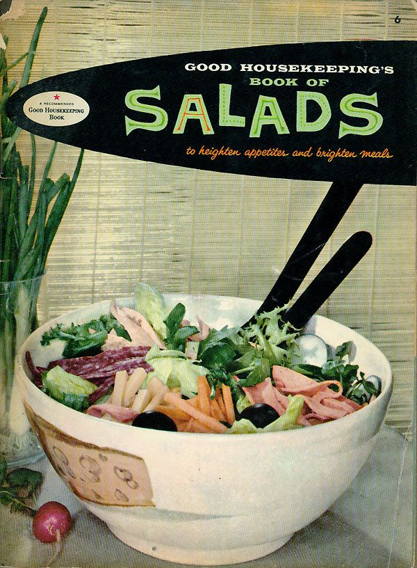 Good housekeeping cookbook book of salads vintage 1950s recipe good housekeeping cookbook book of salads vintage 1950s recipe booklet 750 via etsy forumfinder Image collections