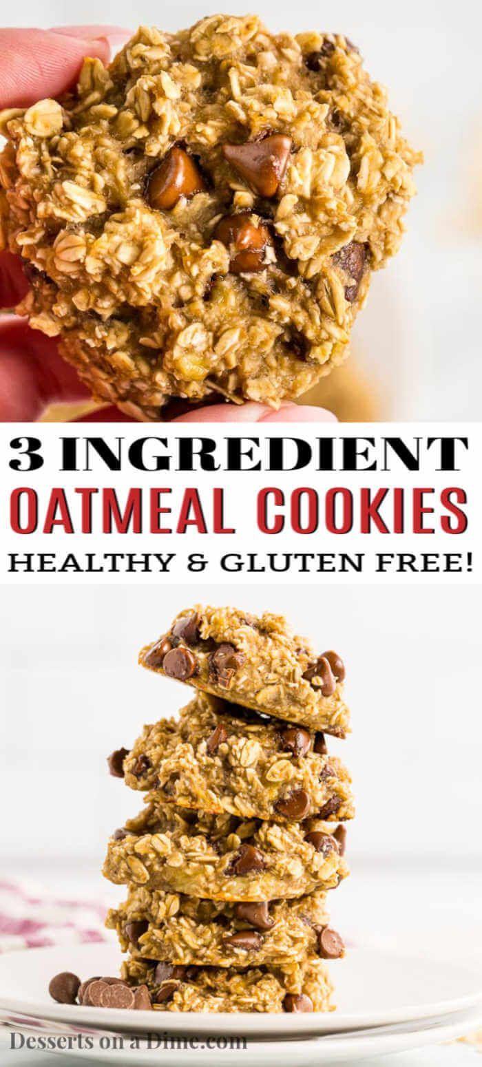 3 ingredient oatmeal cookies - the best oatmeal cookies ...