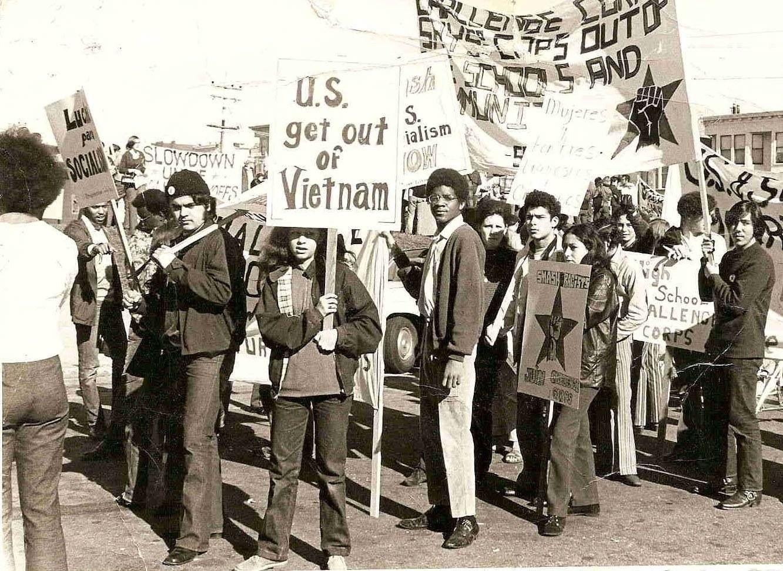 Anti War Demonstration In San Francisco Chicano Anti War Historical
