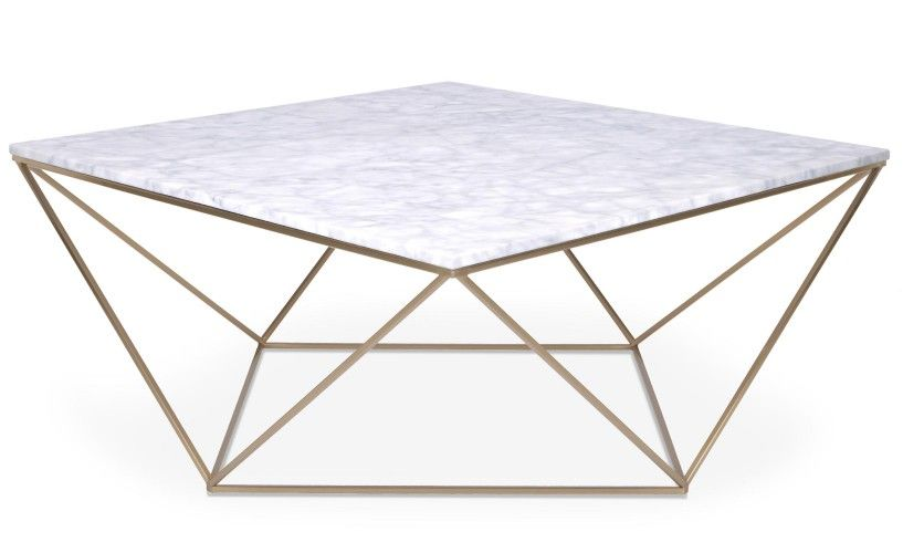 Table Basse Magny Marbre Blanc Et Pieds Metal Dore Marbre Blanc Table Basse Table Basse Marbre