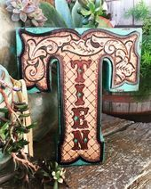 Tooled leather home decor by ArteVae