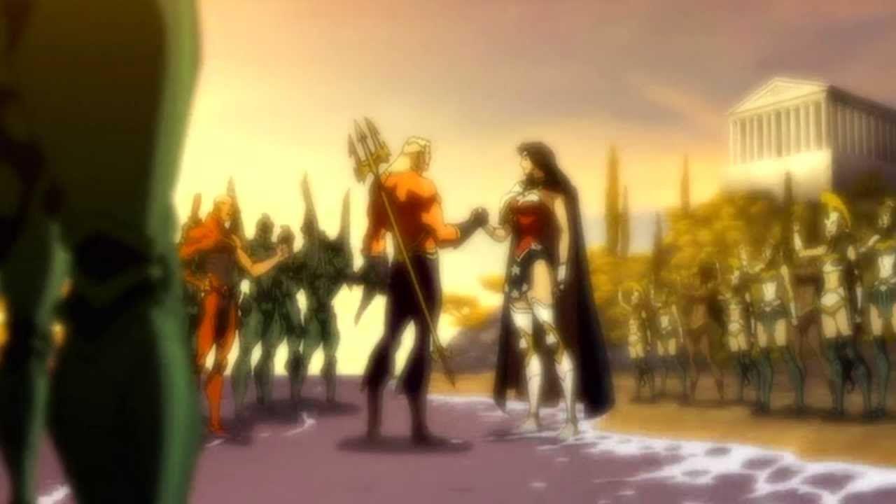 Aquaman And Wonder Woman Truce Flashback Justice League The Flashpoin Aquaman Ocean Master Wonder Woman