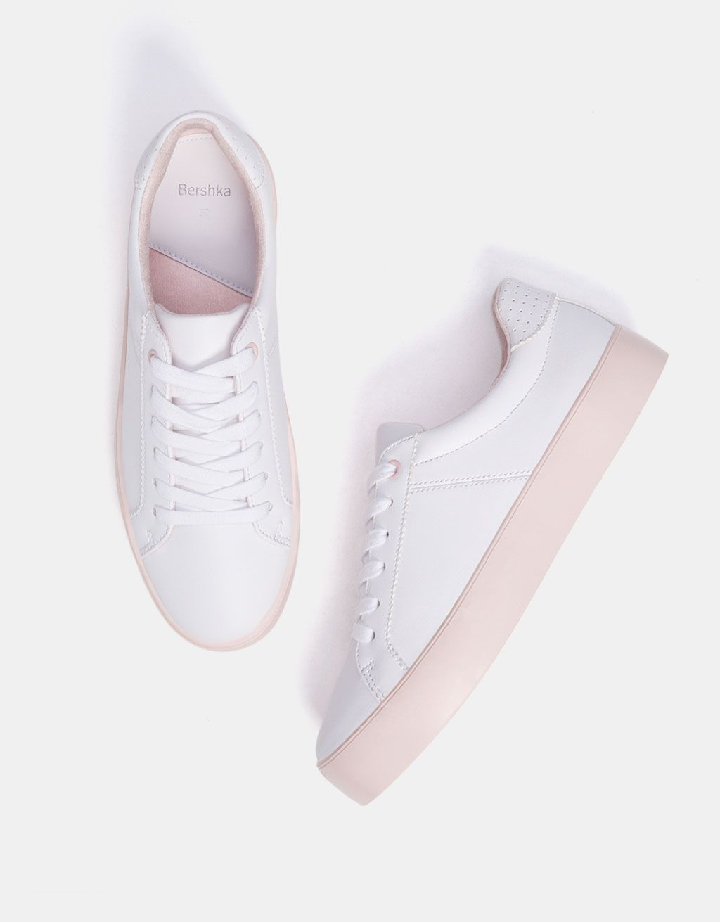 3a1ede8bb6 Platform sneakers with pink soles in 2019