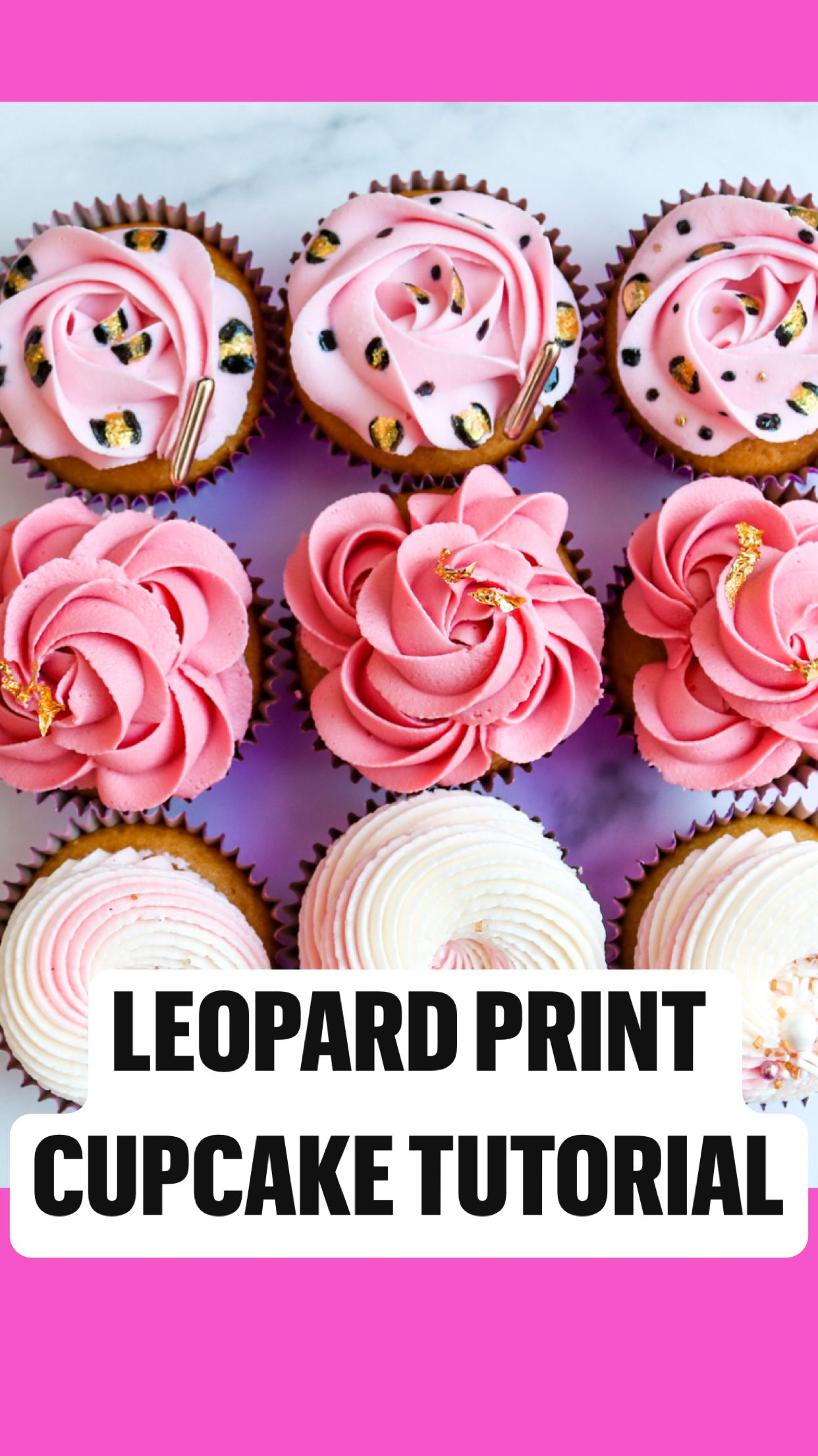 Photo of Leopard print cupcake tutorial