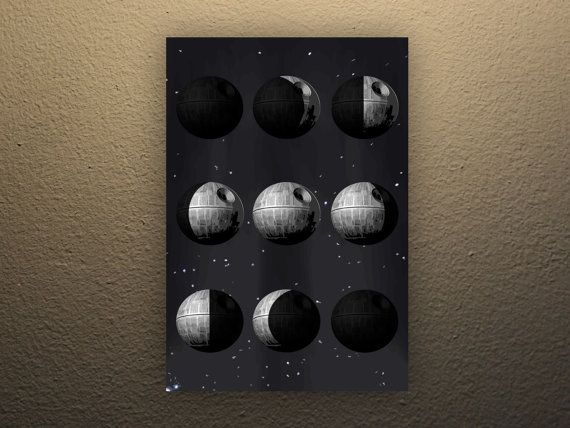Star Wars Phases of the Death Star Poster 11x17in by PowerUpPrints
