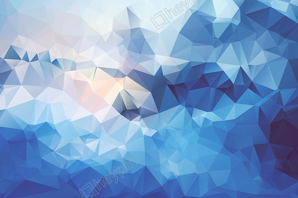 Sky Blue Diamond Background Large Format Vector Geometric Artwork Polygon Art Blue Geometric Wallpaper
