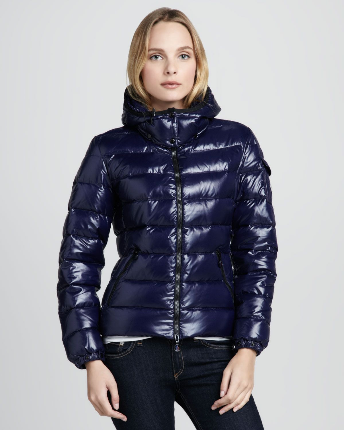 Women's Blue Bady Short Puffer Jacket | Puffer jackets, Jackets ...