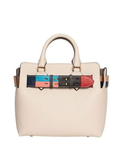 0ea62bf1a279 Burberry Marais Small Geometric Belted Leather Satchel Bag ...