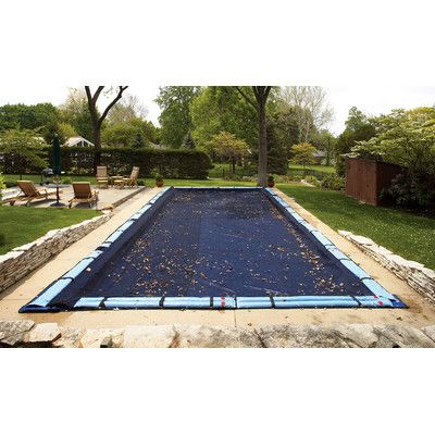 Blue Wave 8 Year Rectangular Leaf Net In Ground Pool Cover Reviews Wayfair