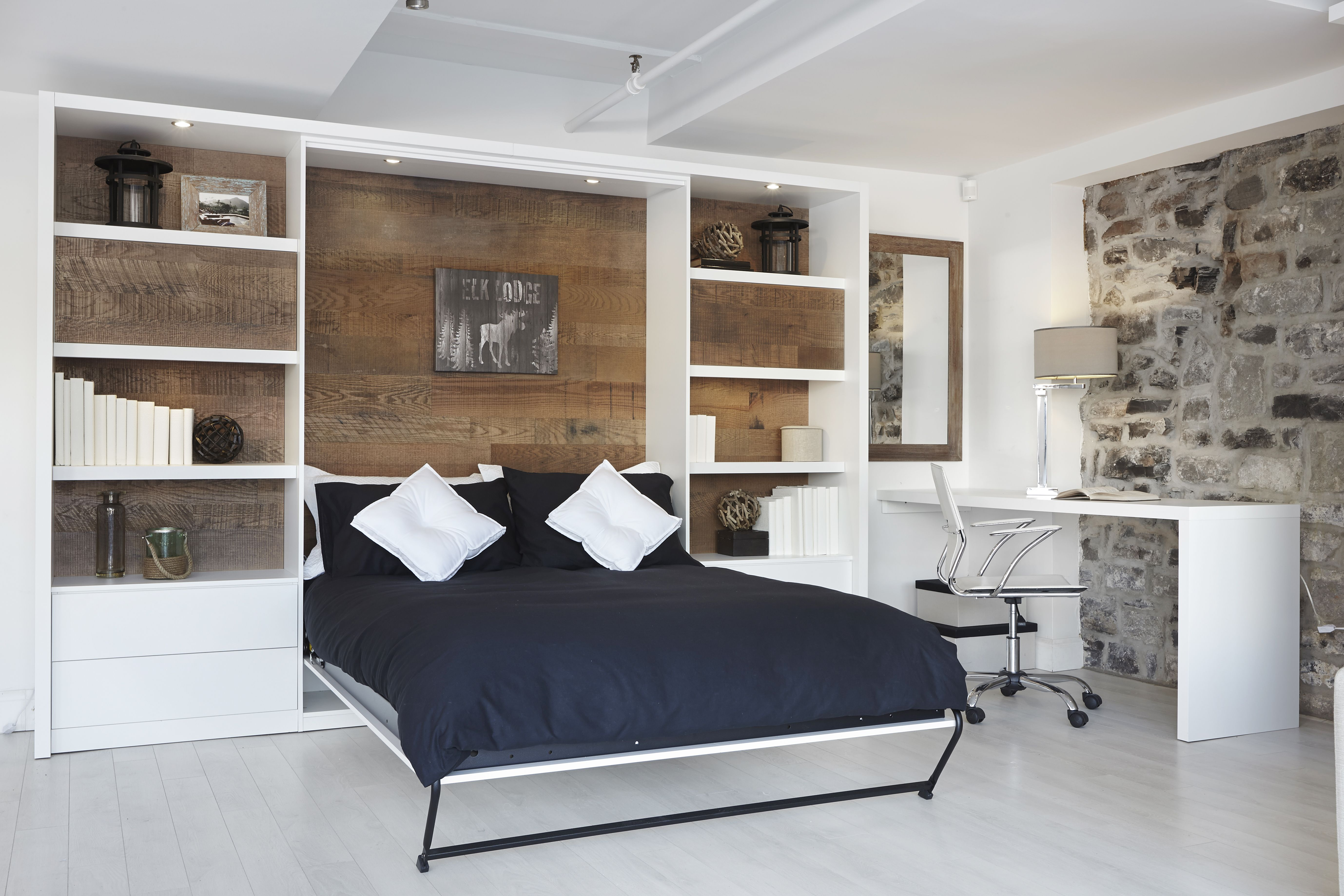 lit mural d ploy wall bed architecture bedroom decor murphy rh pinterest com