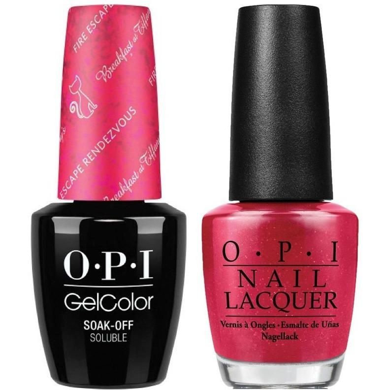 Opi Gelcolor Matching Lacquer Fire Escape Rendezvous H09 Gel Color Opi Gel Polish Opi