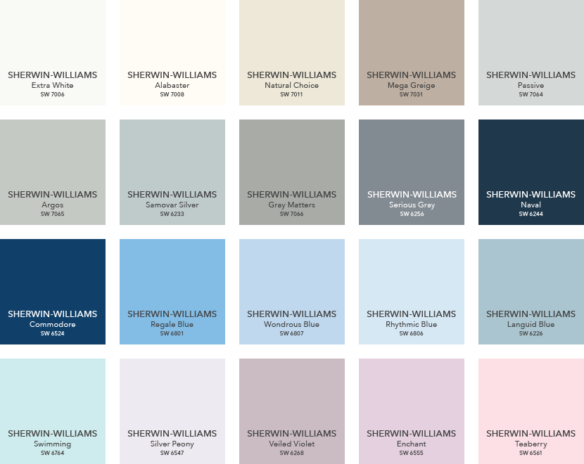 Sherwin Williams Pottery Barn Paint Color Ideas